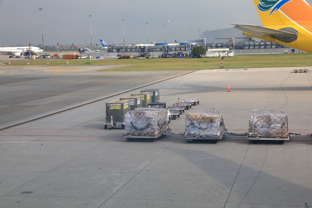 Ładunek cargo w Bangkoku