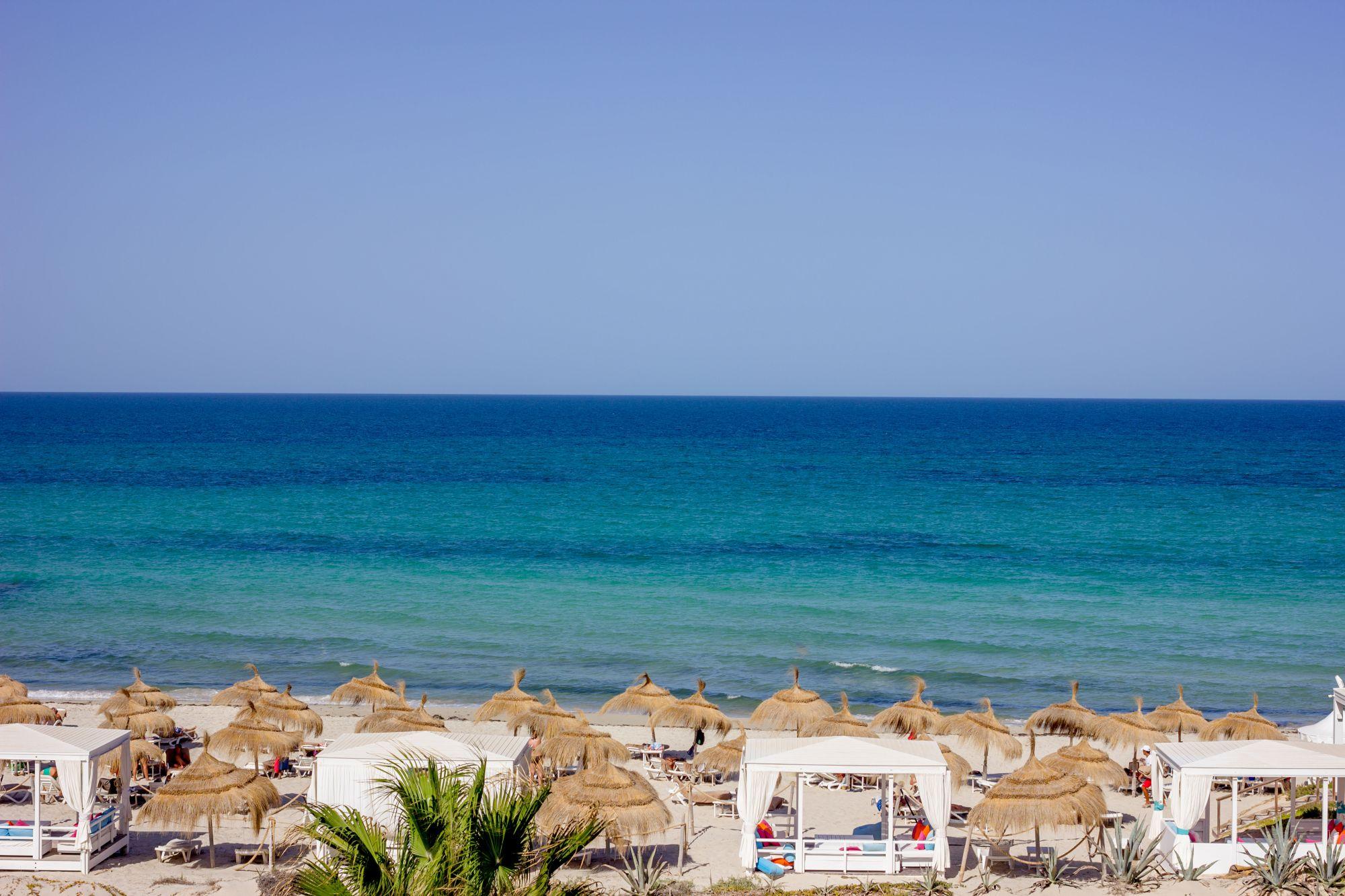 Djerba widok plaży