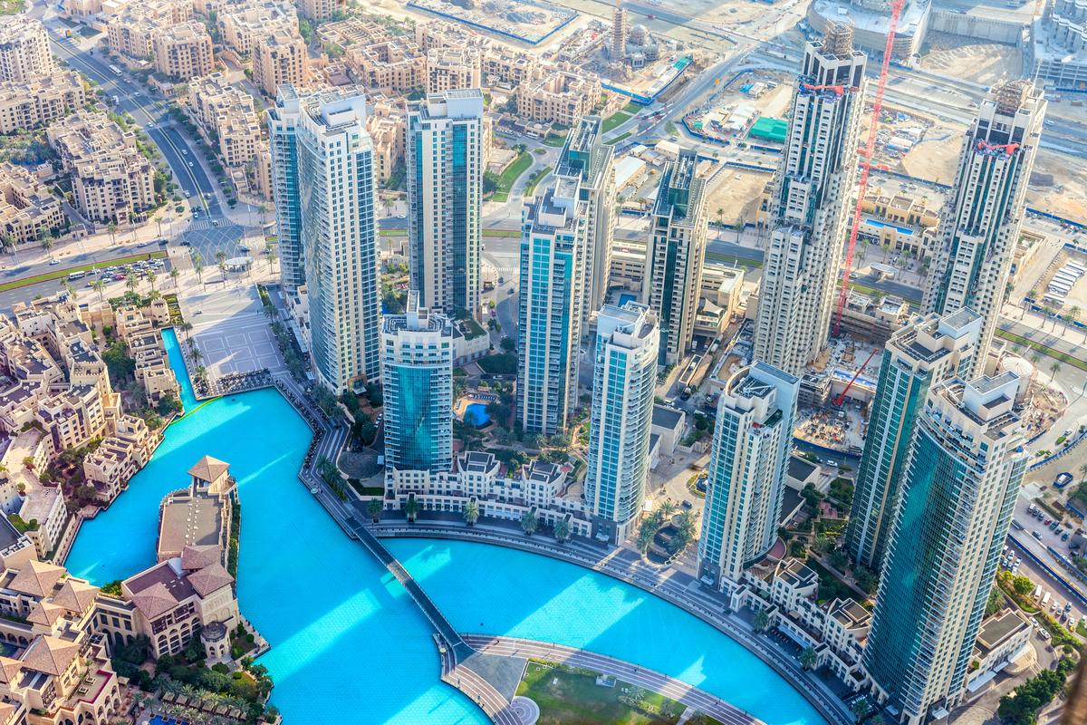 Dubaj widok z Burdż Kalifa