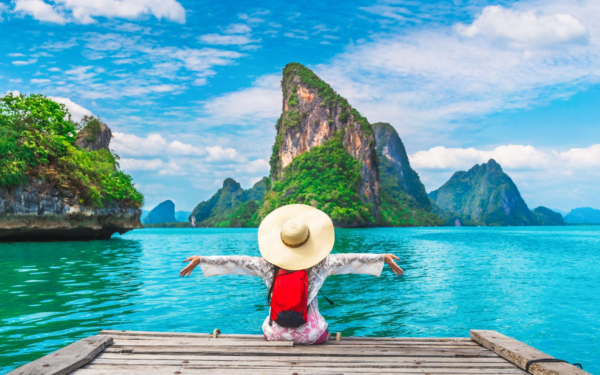 Tajlandia kobieta na molo