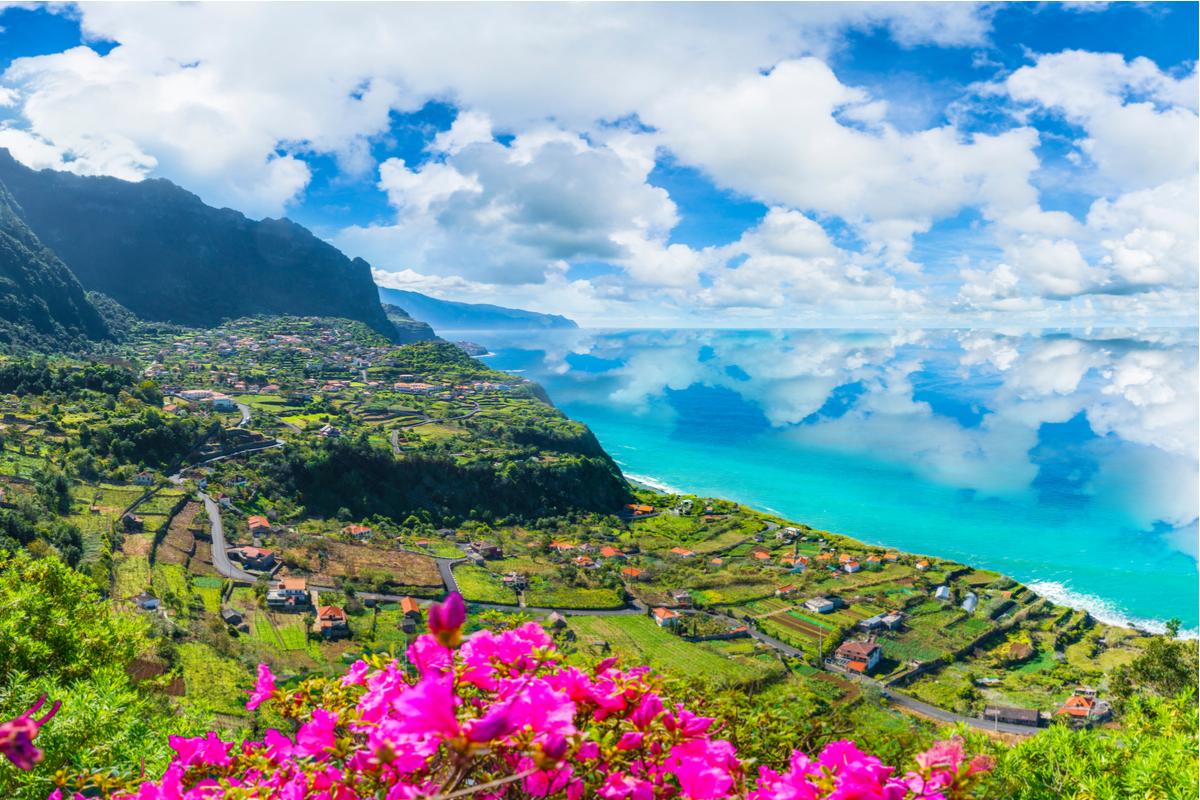 Madera widok na wyspę