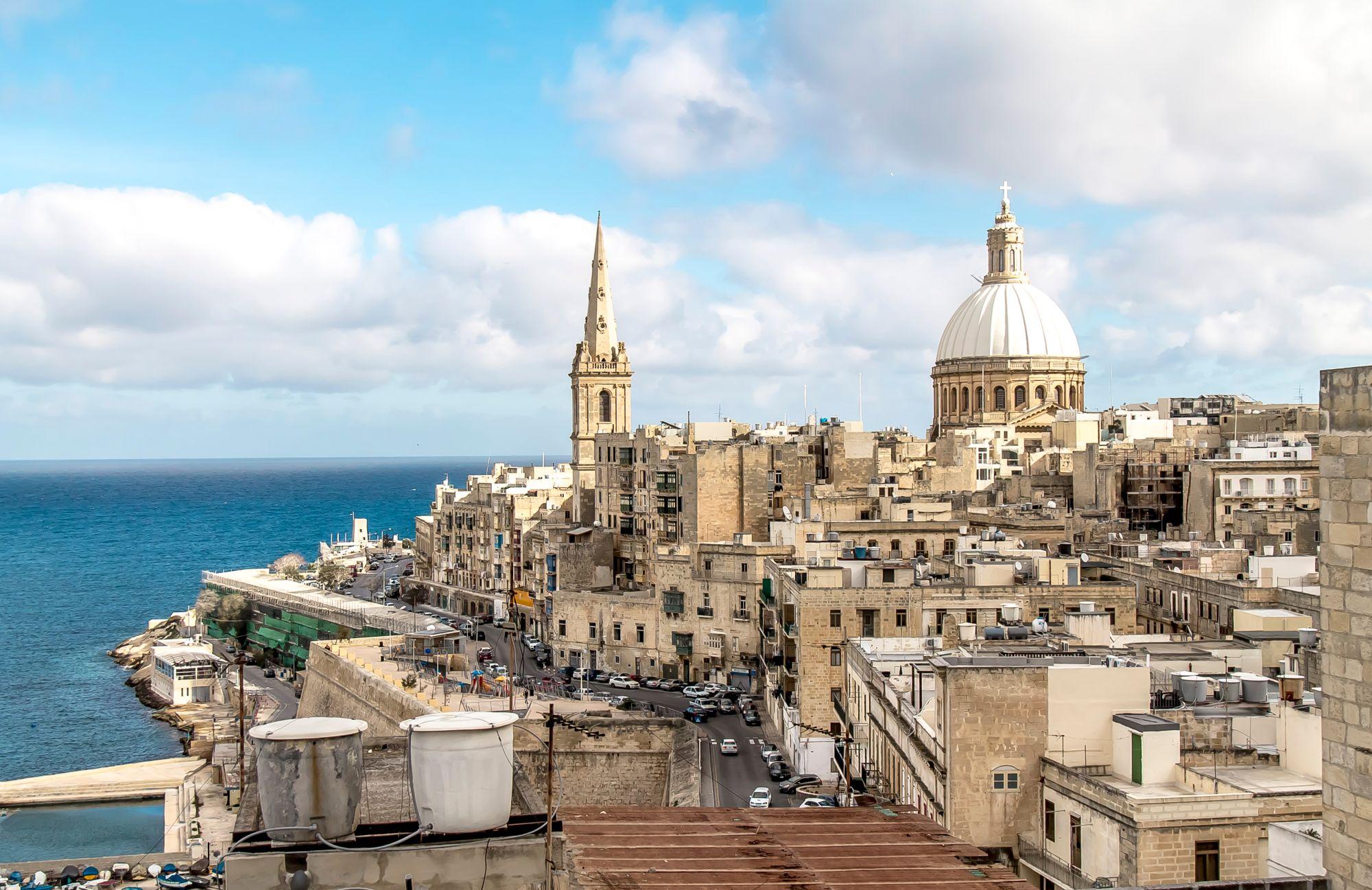 Malta widok miasta