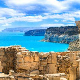 Pafos widok morza