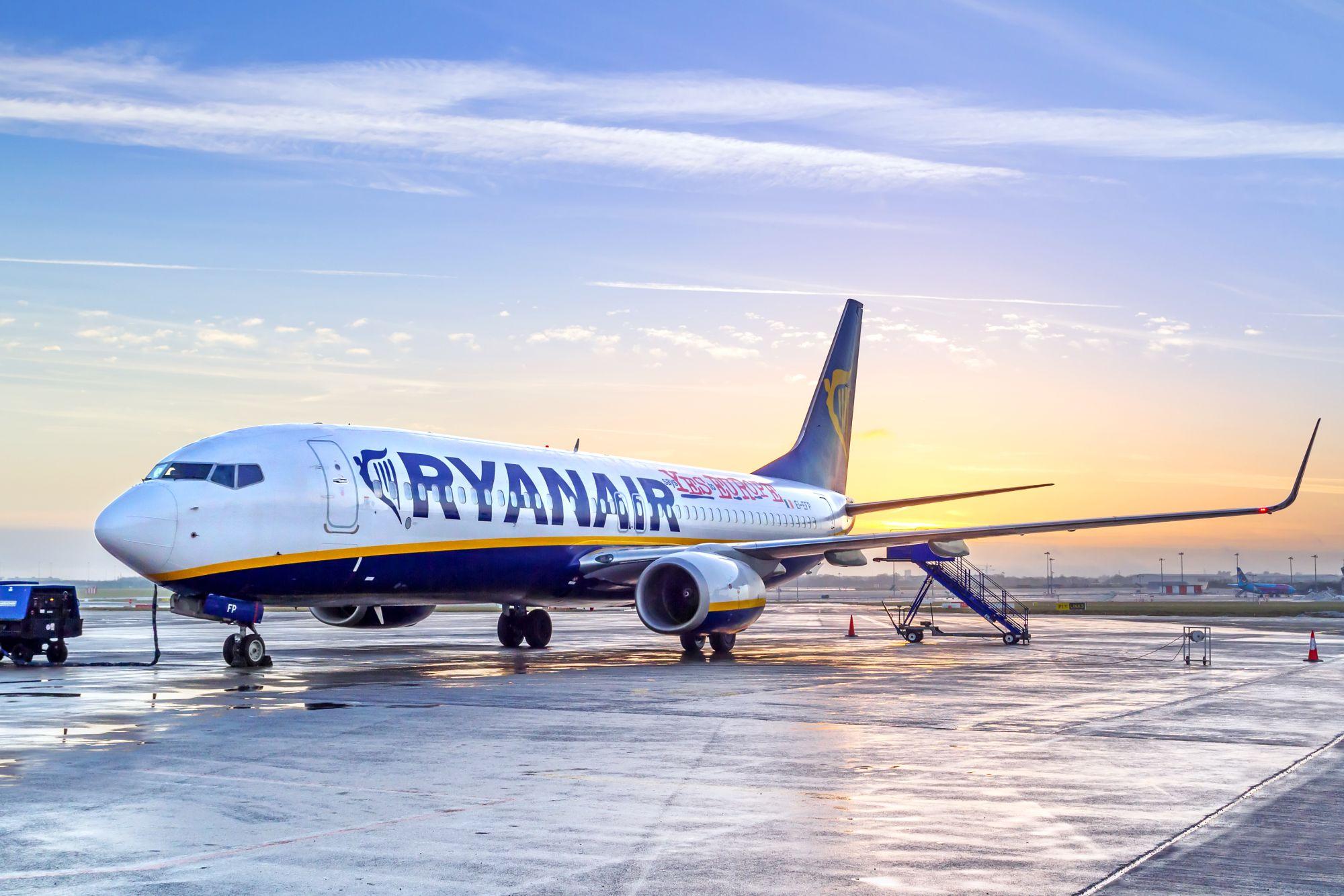 Ryanair na lotnisku