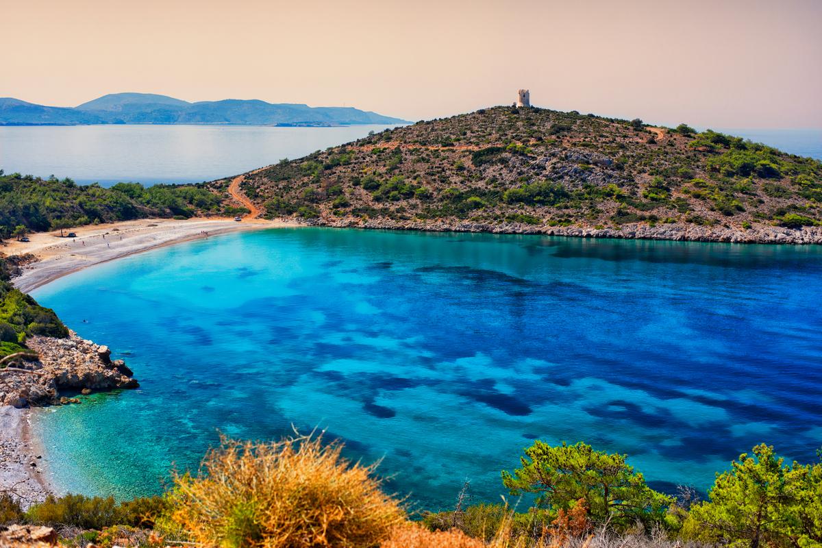 zatoka na wyspie chios