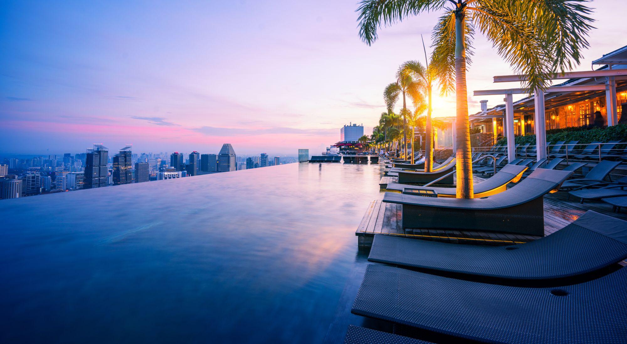 Singapur basen w hotelu