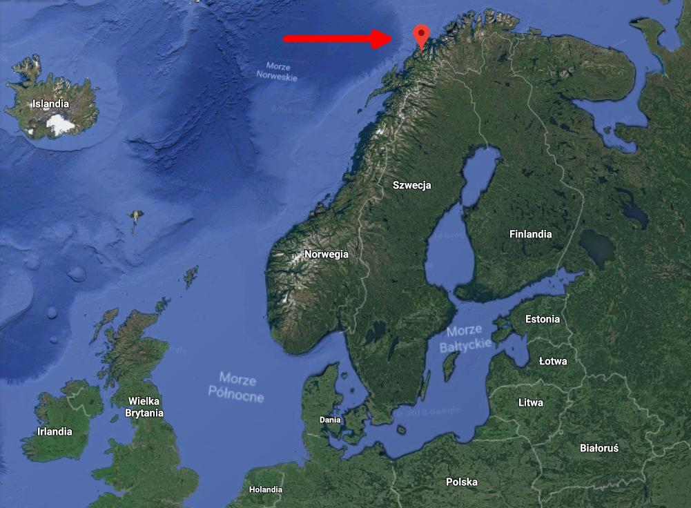 Mapa Tromso