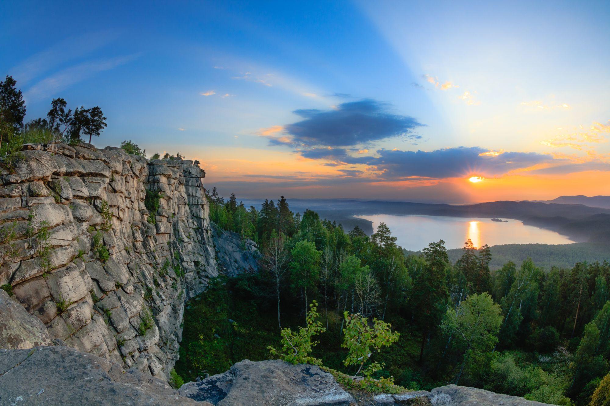 Ural widok gór