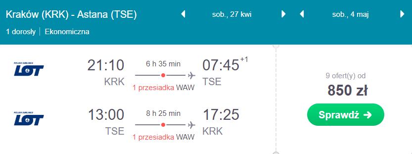 Kazachstan z Krakowa