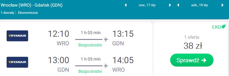 rezerwacje lotów do gdańska