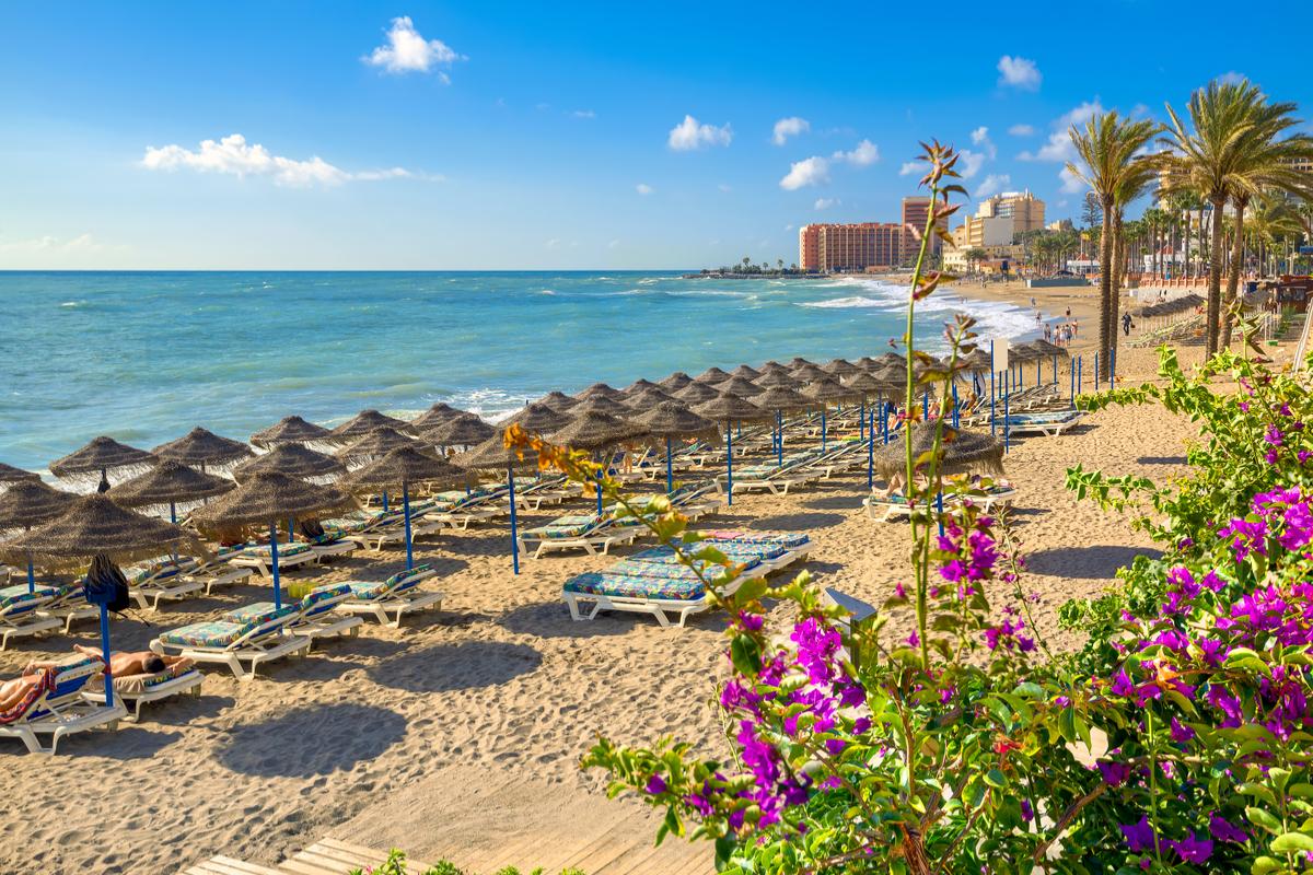 plaża na Costa del Sol