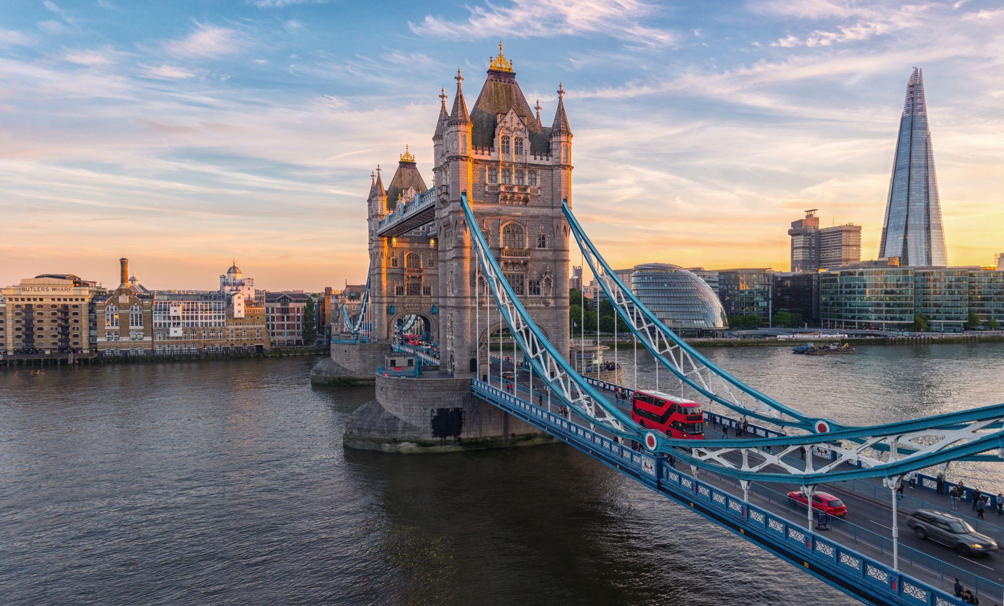 Londyn widok mostu