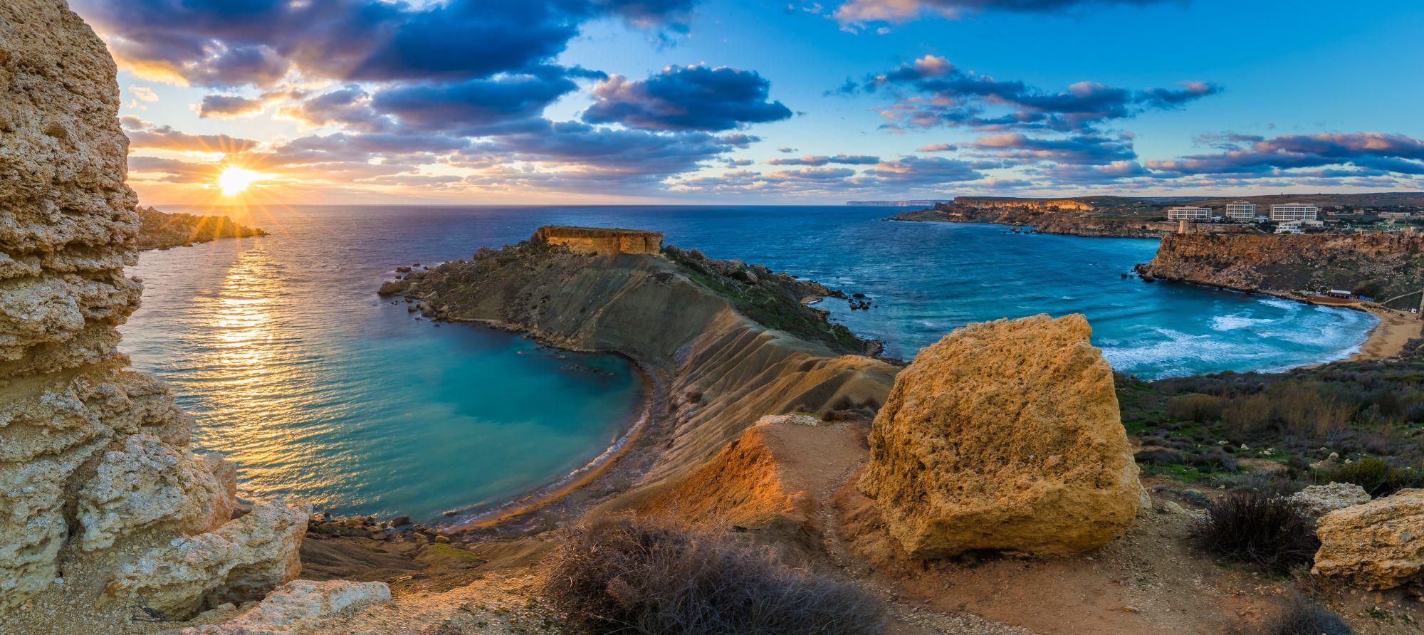 Malta widok zatoki