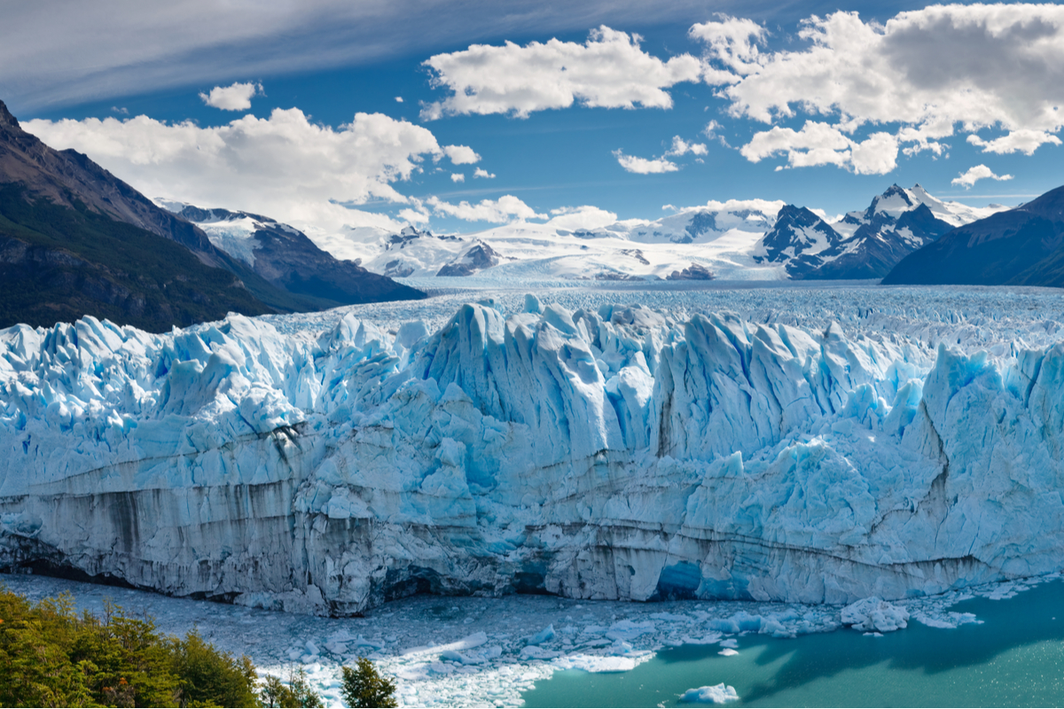 Patagonia widok na lodowiec