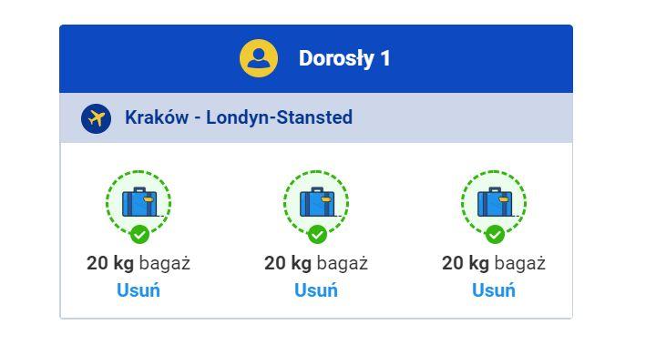 Bagaż rejestrowany w Ryanair