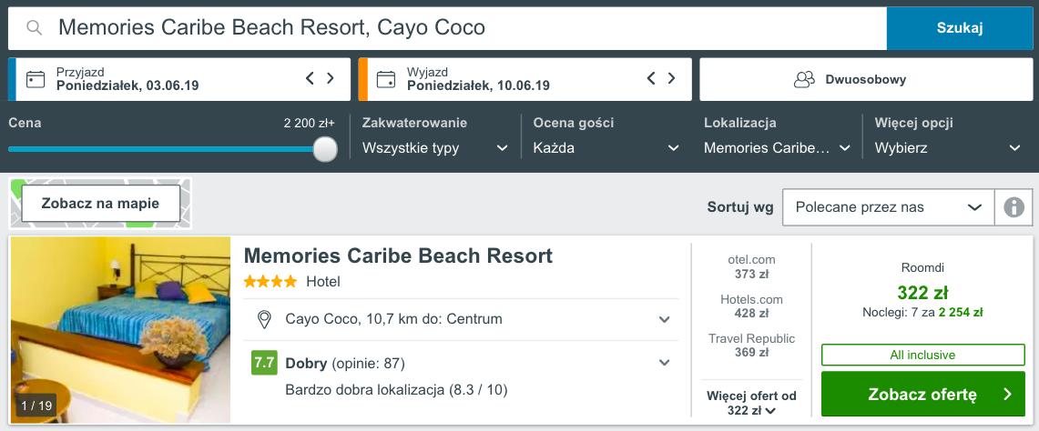 zarezerwuj hotel w cayo coco