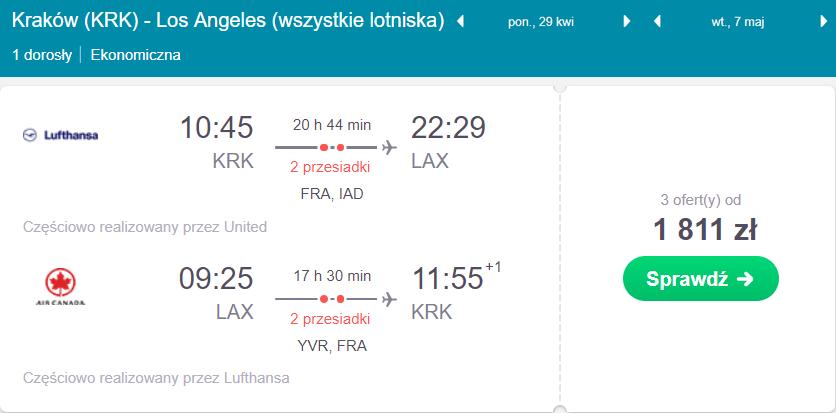 Los Angeles na majówkę z Krakowa