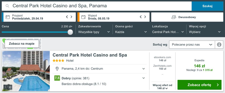 zareerwuj hotel w panamie