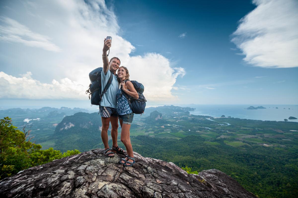 selfie na skale