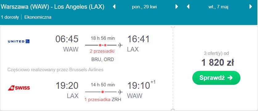 Los Angeles na majówkę