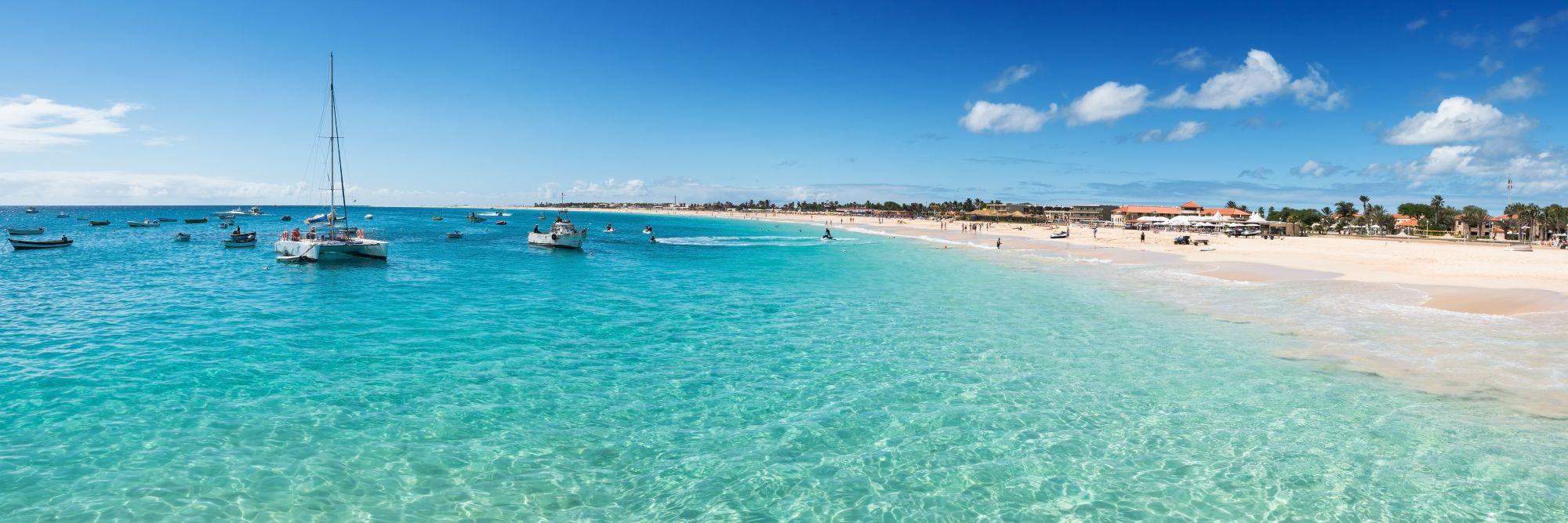 Sal widok plaży