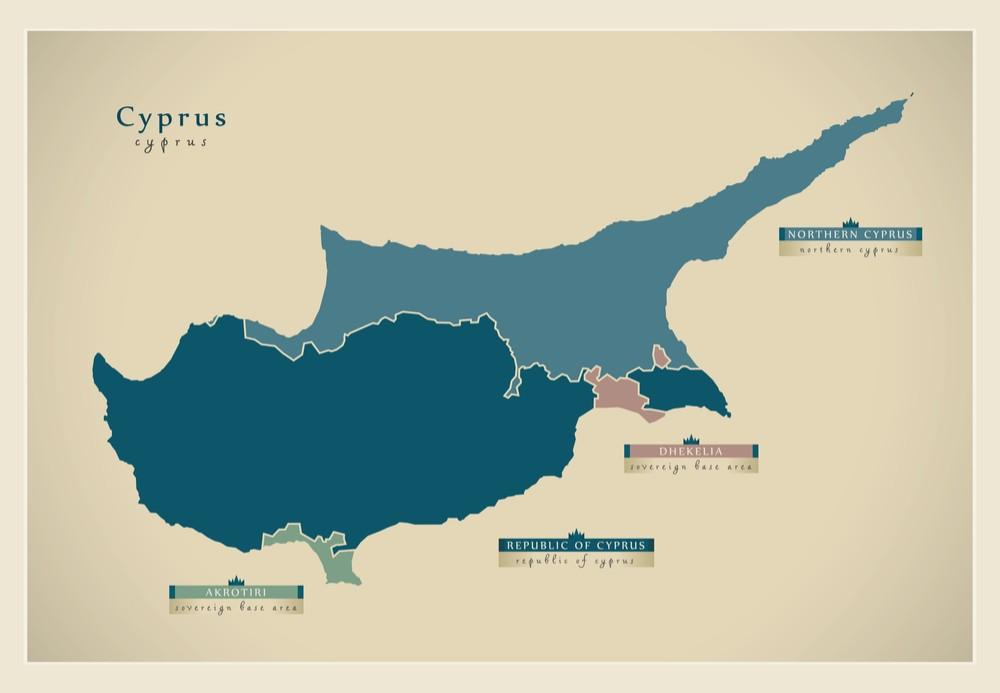 Cypr mapa