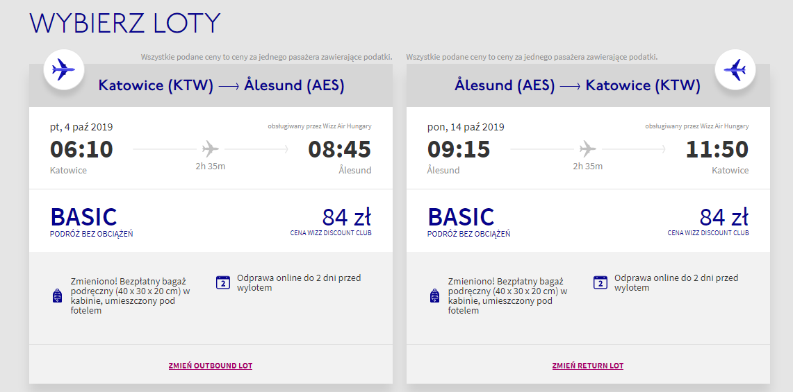 Bilety Wizz Air