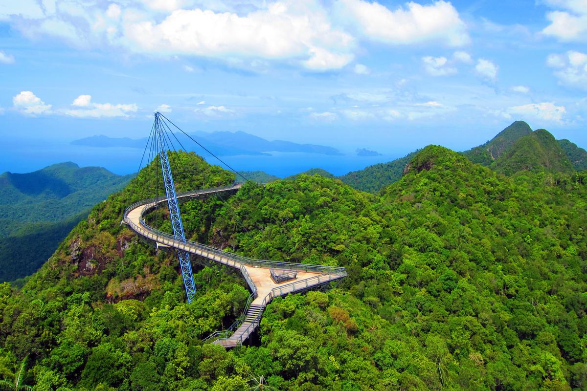 Langkawi słynny wiszący most