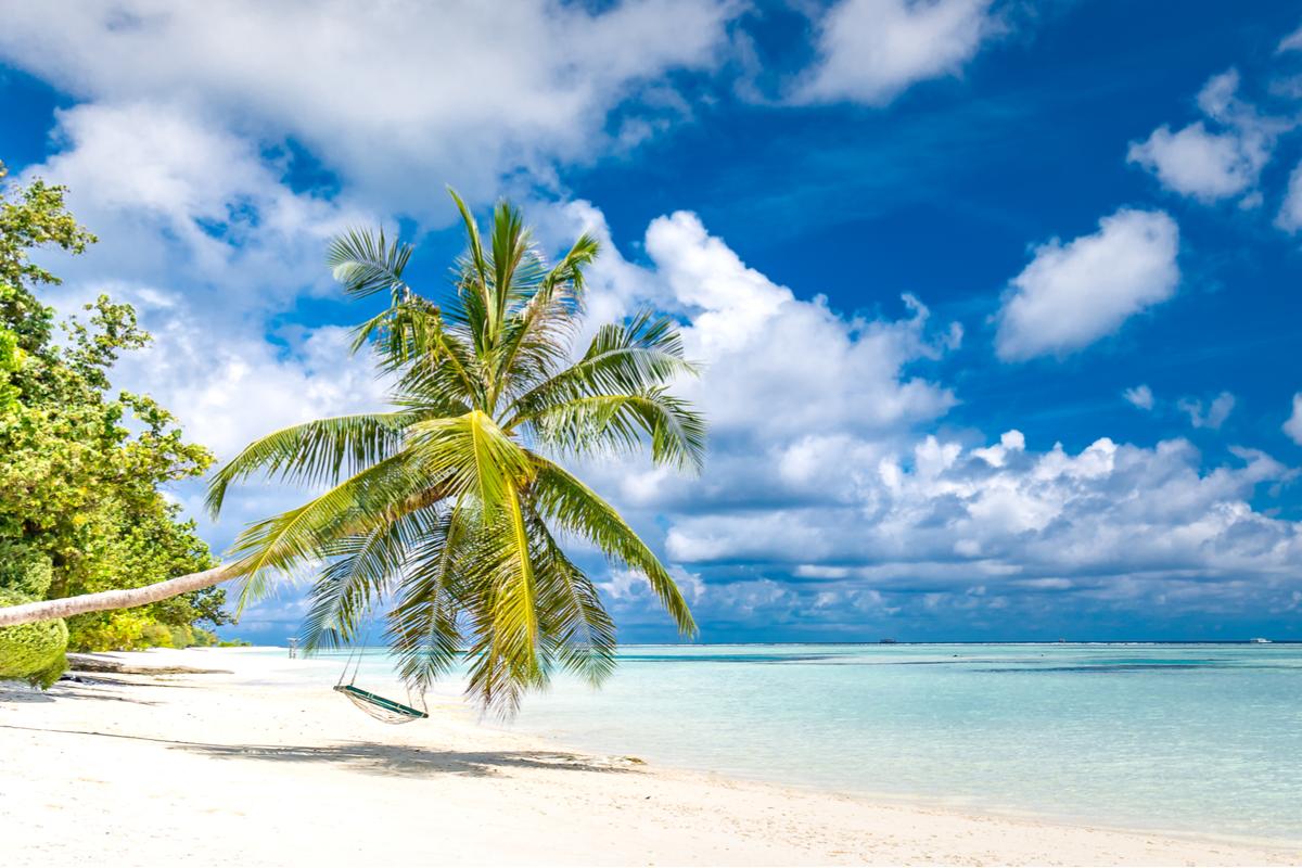 Malediwy rajska plaża