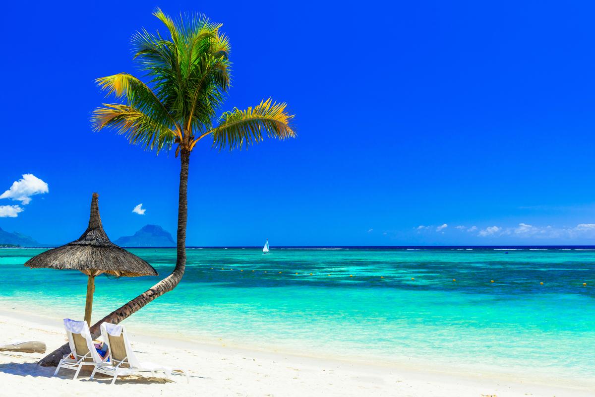 plaża na Mauritius