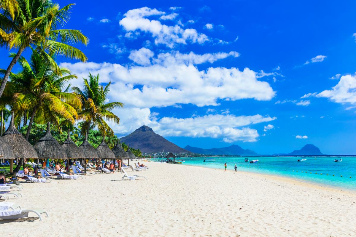 plaża na Mauritiusie