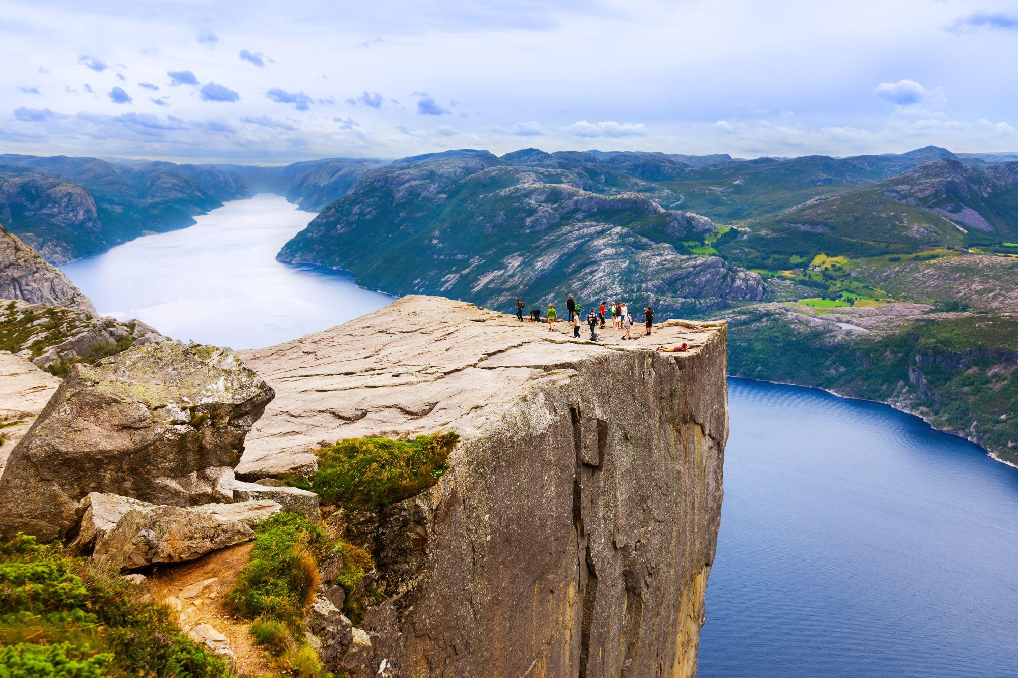 Fiordy w Norwegii