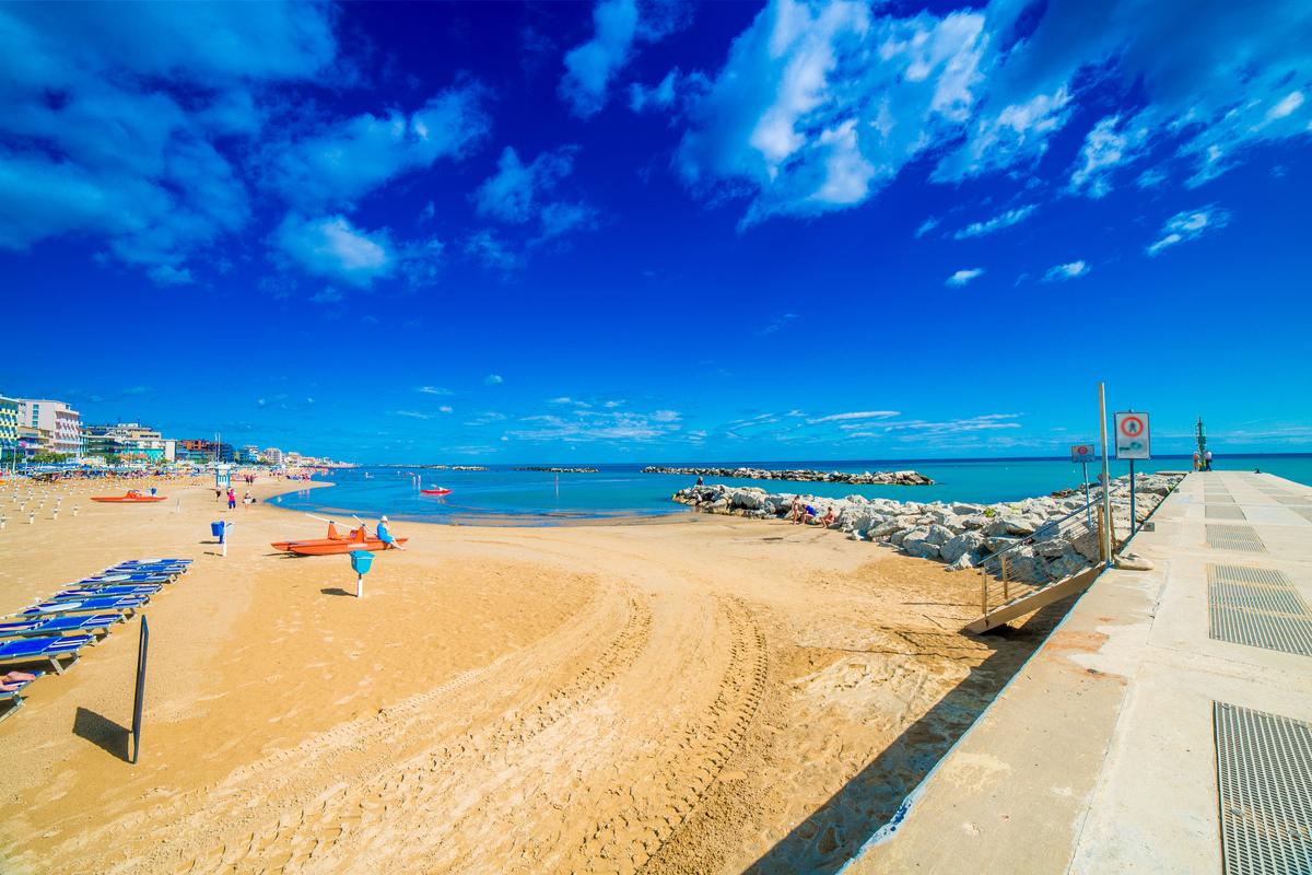 Rimini plaża włochy