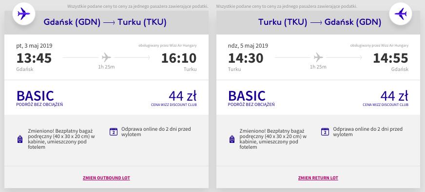 Połączenie Wizz Air