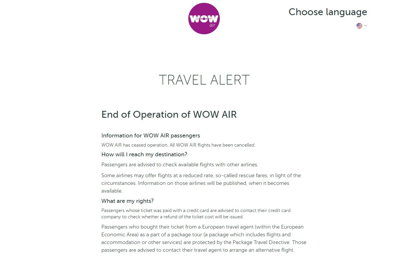 wow air upadlosc