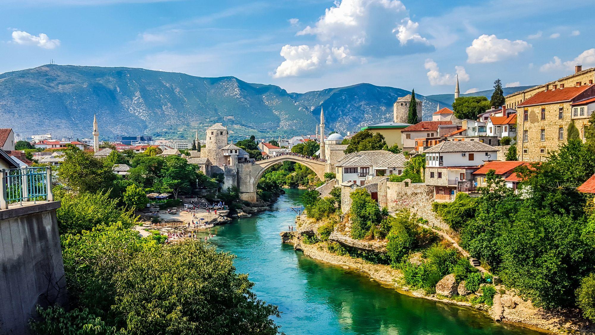 Mostar widok mostu