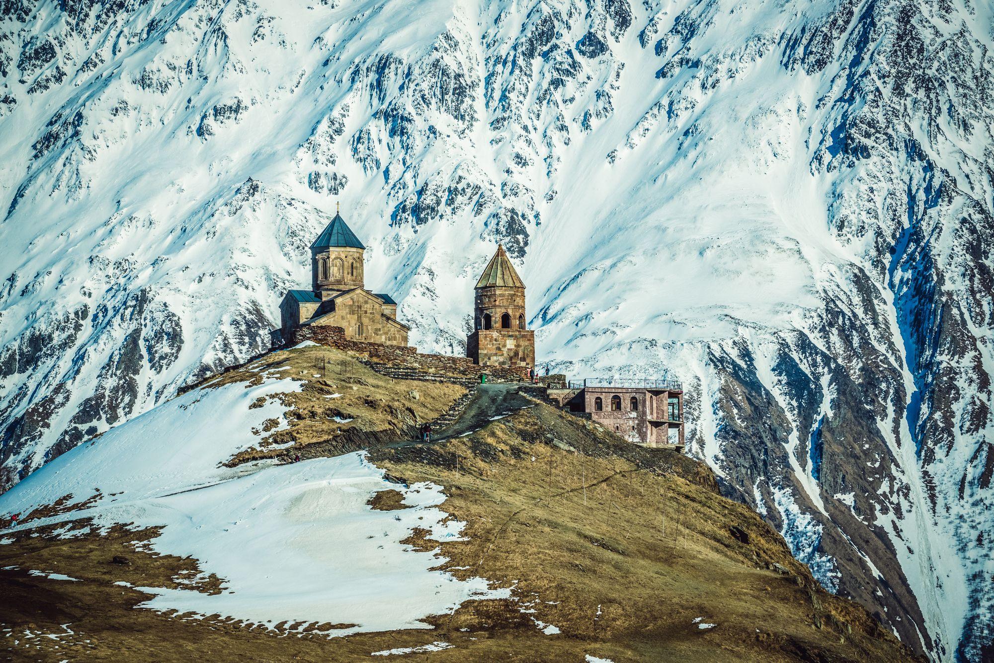 Gruzja góry zimą