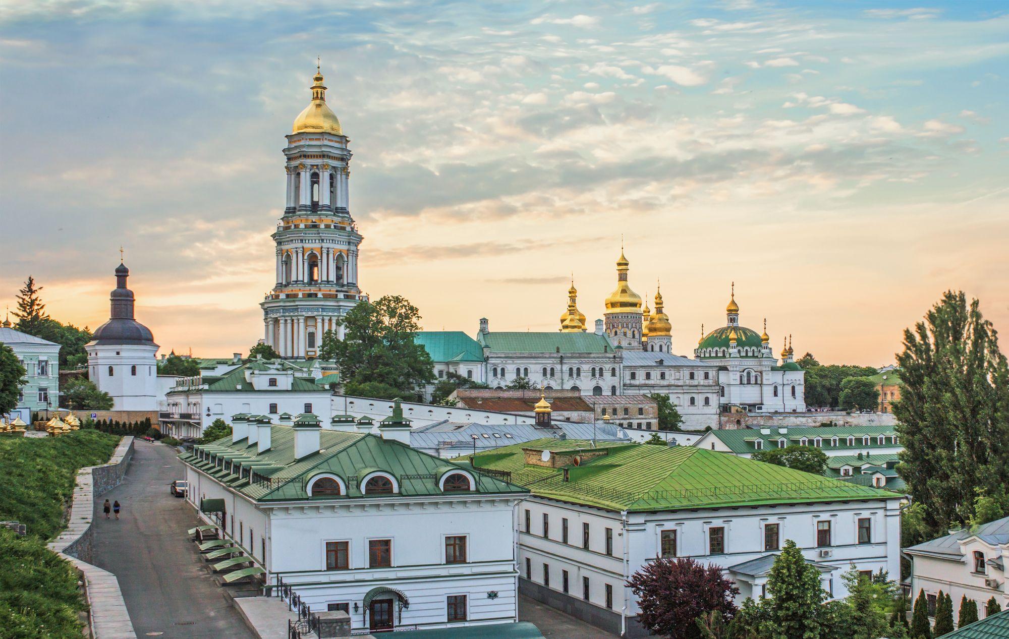 Kijów widok cerkwi