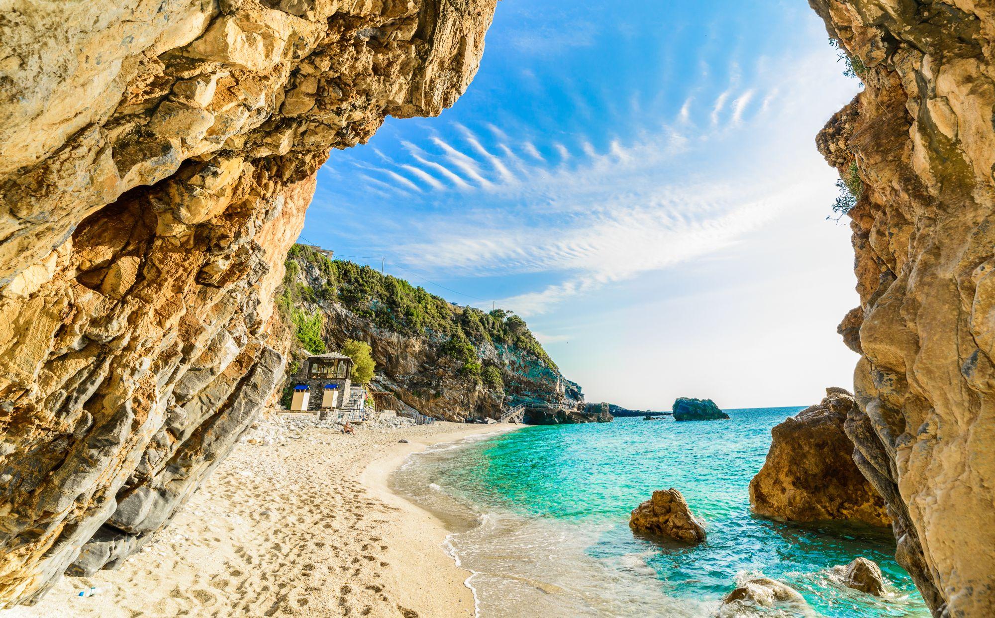 Korfu widok plaży