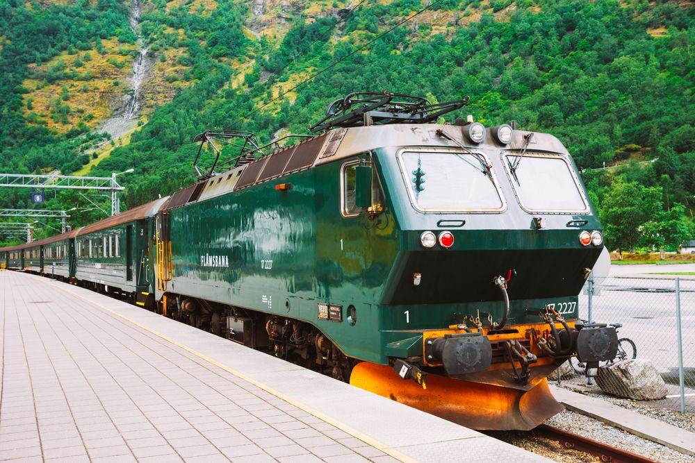 Pociąg w Norwegii