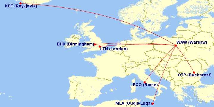 Trasy lotnicze