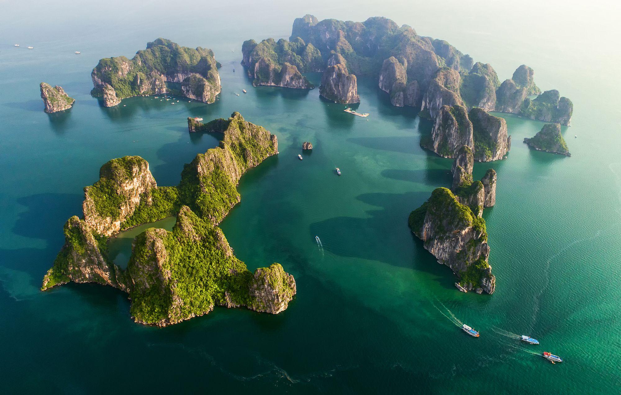 Wietnam widok wysepek