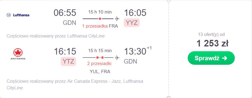sprawdź ceny lotów z gdańska do toronto