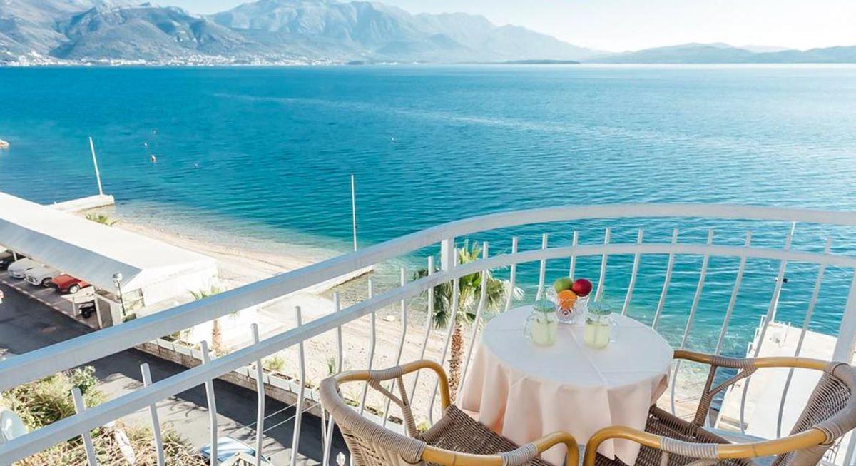 Widok z hotelowego balkonu