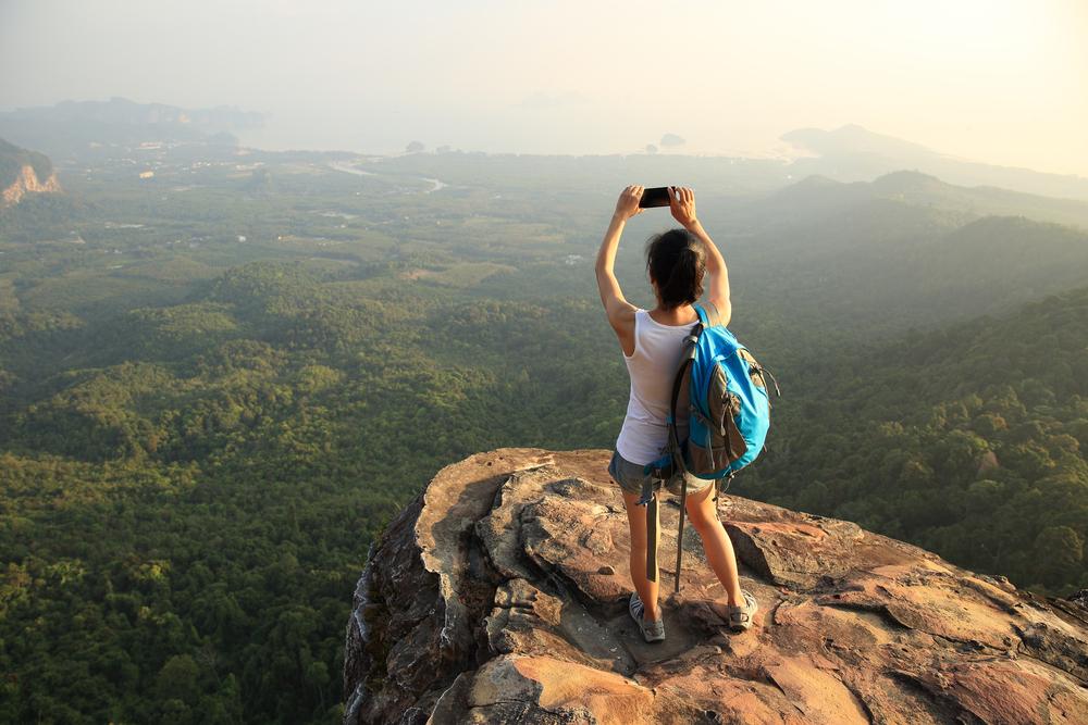 selfie w podróży
