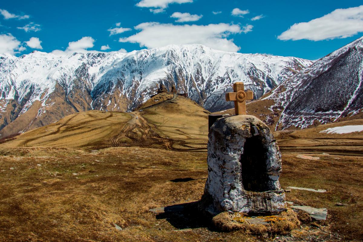 Kazbek gruzja zima