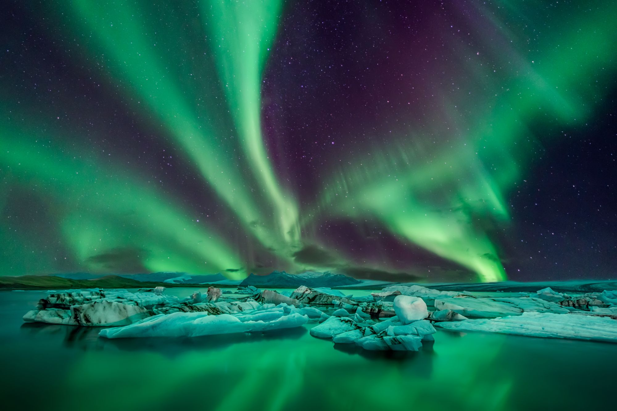 Zorza nad Islandią