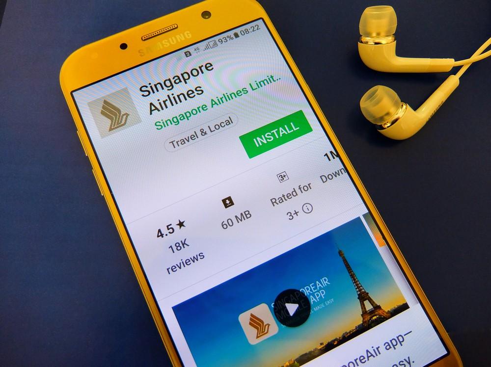 Aplikacja Singapore AIrlines