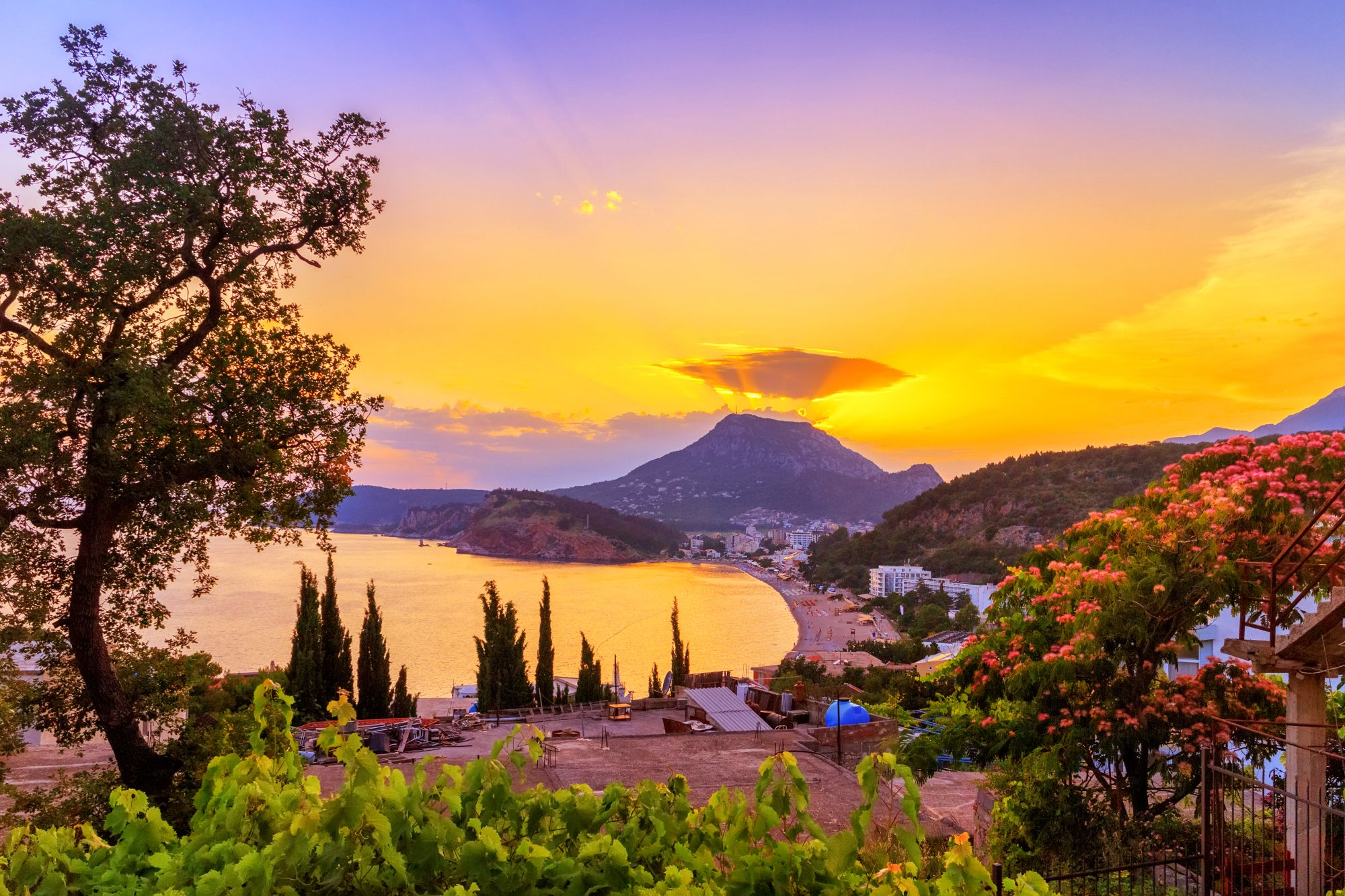 Zachód słońca w Czarnogórze
