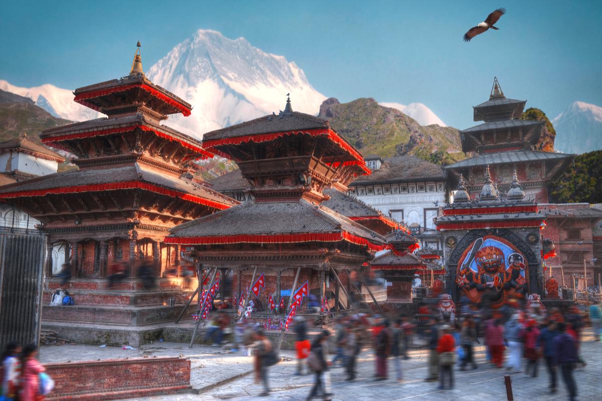 wioska w Nepalu